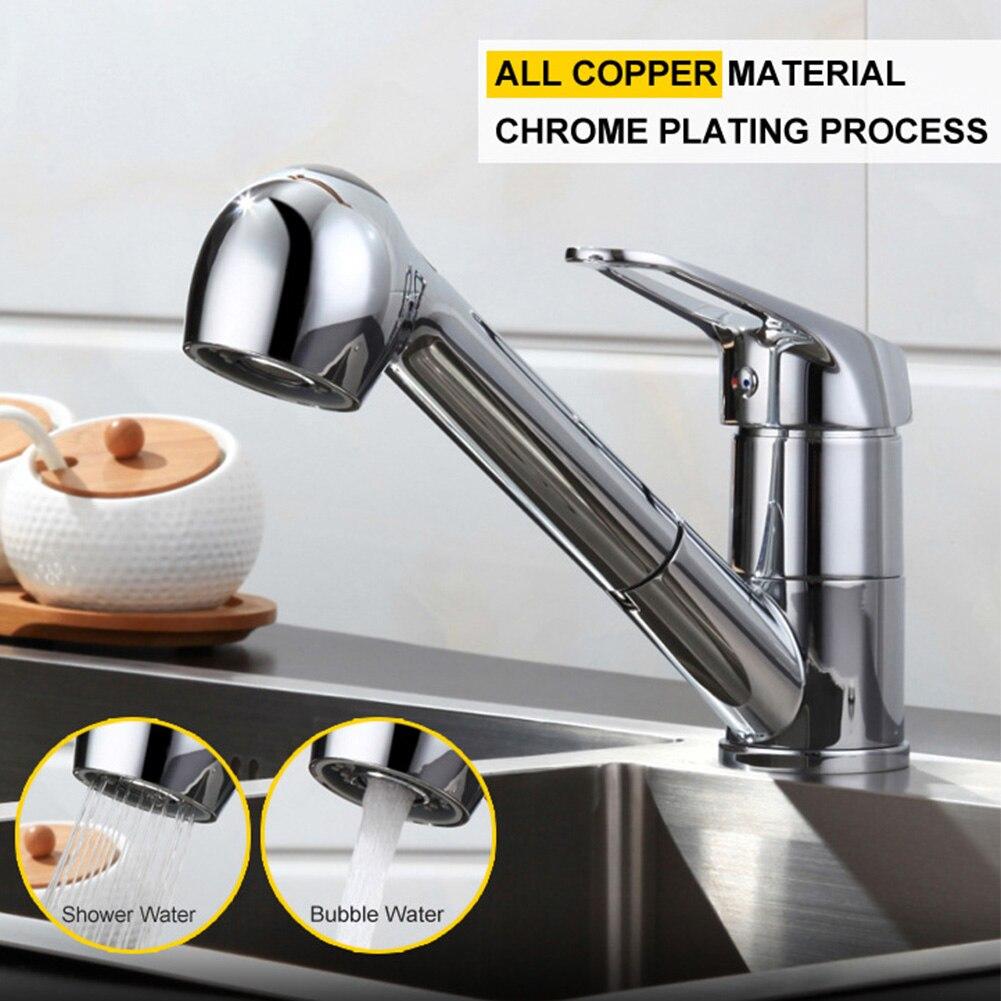 Tirez le robinet de cuisine d'évier de pulvérisation robinet de mélangeur en alliage de Zinc bec pivotant poignée unique grifo cocina mélangeur de cuisine - 2