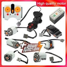 Technical parts Compatible 91994 74784 61927 multi power functions tool servo blocks train engine xl motor PF model sets 88002
