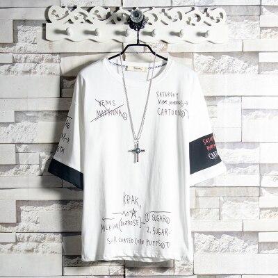 В Стиле Хип-хоп модная Фирменная Корейская женская футболка с коротким рукавом Корейская универсальная модная свободная летняя одежда с ко...