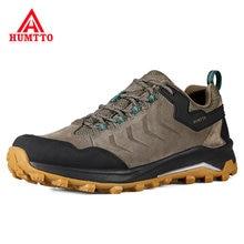 HUMTTO – chaussures de randonnée légères, respirantes et antidérapantes, en cuir véritable pour hommes, baskets d'extérieur pour l'escalade et le tourisme