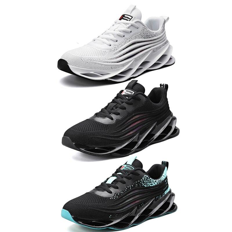 Damyuan nuove Sneakers da uomo di lusso lama di moda nera suola cava scarpe Casual da uomo scarpe sportive da Tennis bianche traspiranti da uomo