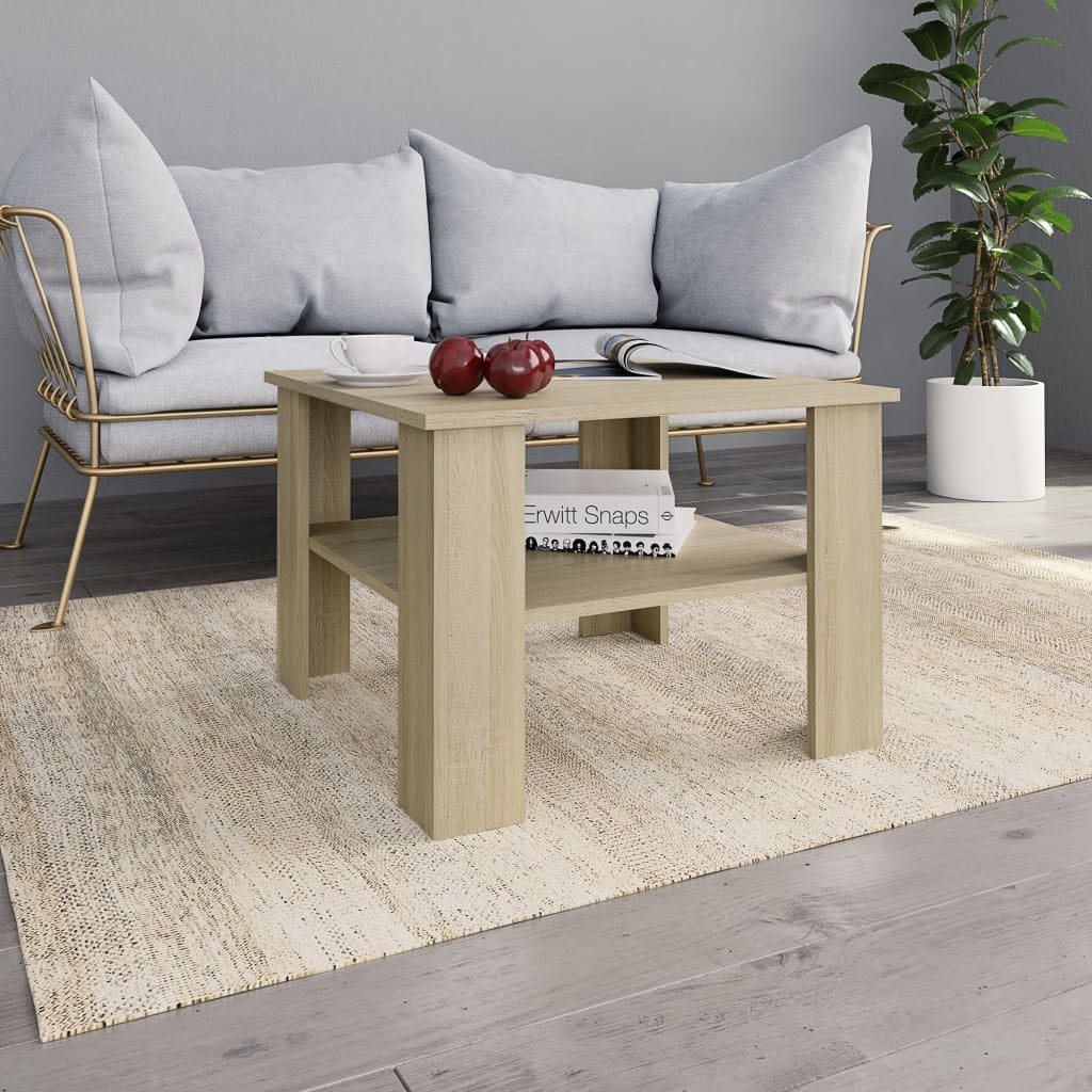 VidaXL Coffee Table Sonoma Oak 60x60x42 Cm Chipboard
