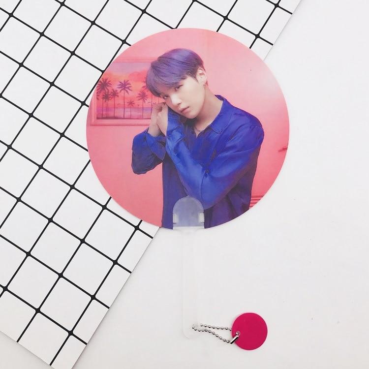 Kpop Bangtan Boys WORLD TOUR такие же полупрозрачные вентиляторы любят себя ответят на концерты те же вентиляторы 18X28 см - Цвет: 16