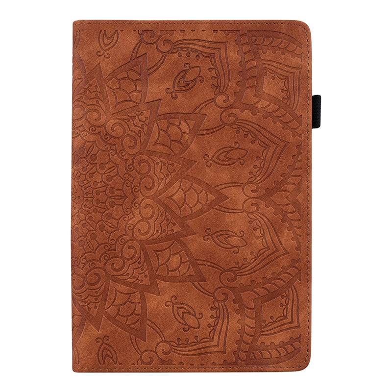 For Samsung Galaxy Tab A 8.0 2018 T387 SM-T387V SM-T387W Case Flower 3D Emboss Leather Cover Funda For Tab A 8.0 Case
