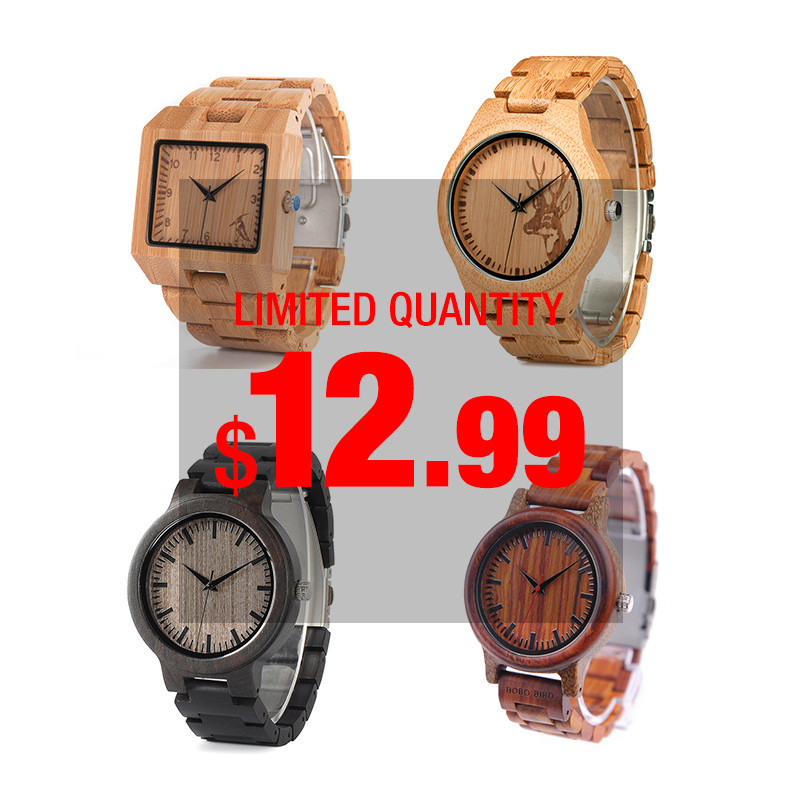 BOBO BIRD часы мужские Women's Watches Bamboo Strap Wood Quartz Watches Fashion Design In Gift Paper Box Reloj Mujer OEM