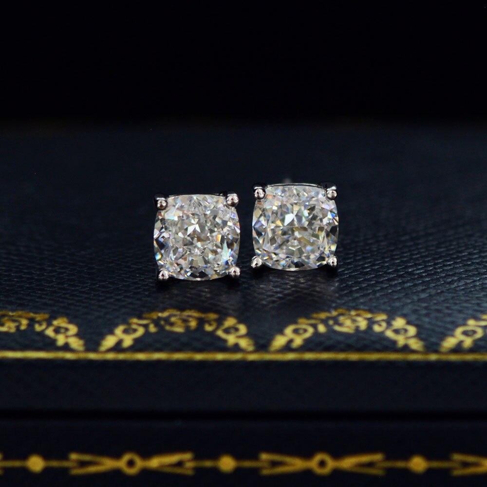 Купить knriquen 100% 925 серебряный блеск 6*6 мм создан муассанит камень