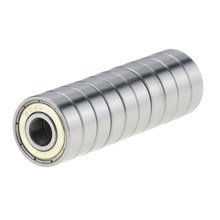 10pcs/lot Double Shielded Miniature High-carbon Steel Single Row 608ZZ ABEC-7 Deep Groove Ball Bearing 8*22*7 8x22x7 MM 608 ZZ