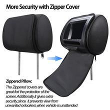 7-дюймовый универсальный заднем сиденье USB Мультимедиа встроенный Динамик цифровой Поддержка Камера видео плеер светодиодный Экран монитор подголовника автомобиля