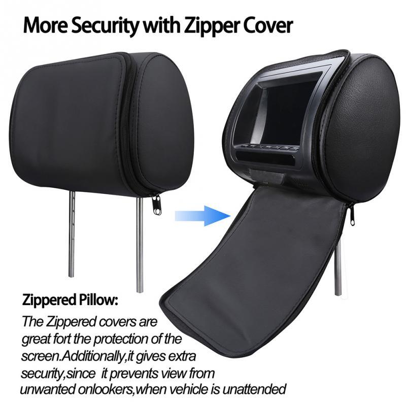 7 pouces universel siège arrière USB multimédia intégré haut-parleur Support numérique caméra lecteur vidéo écran LED voiture appuie-tête moniteur