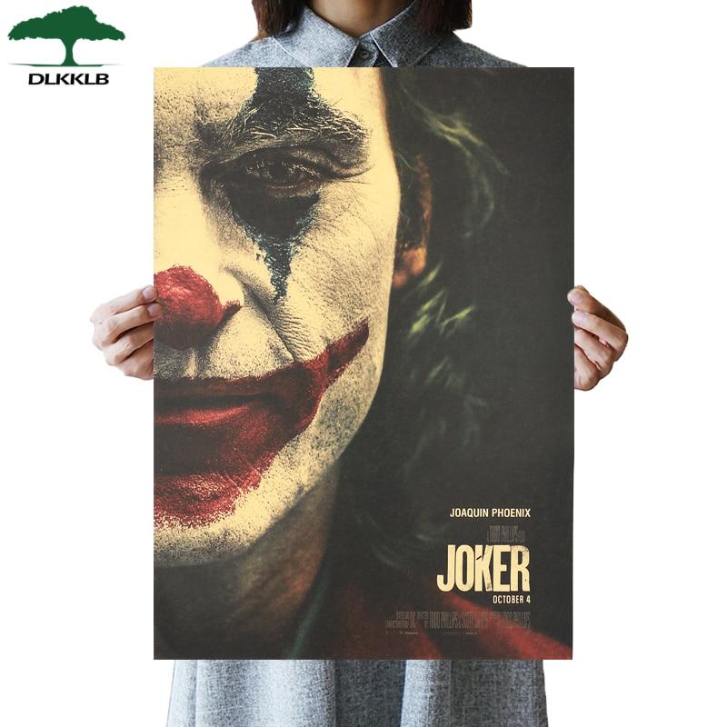 DLKKLB New Movie Poster Joker Style C Kraft Paper Batman's Enemy Vintage Style DC Wall Sticker 51x36cm Home Decorative Painting