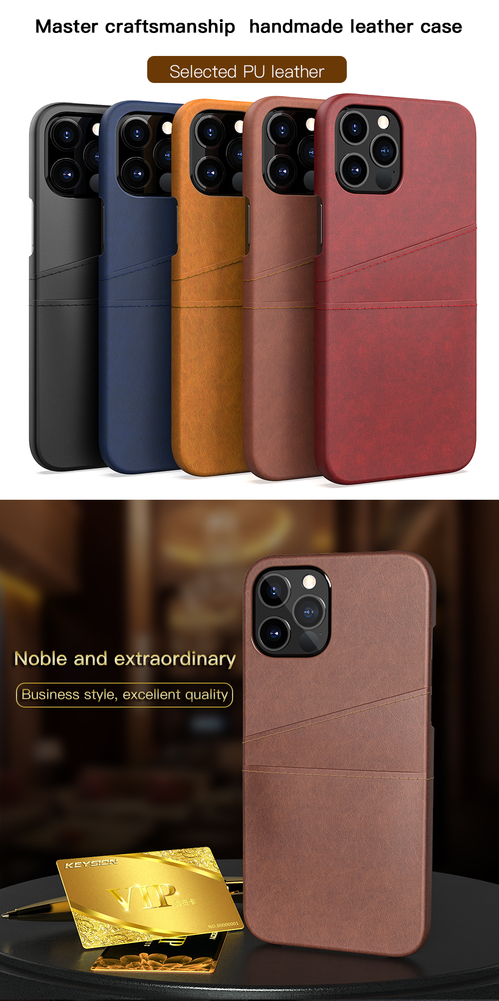 PU Leather Card Pocket Wallet Phone Case for iPhone 12 Pro Max