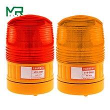 LTE-5088 Питание от батареи DC 6 в светодиодный экран вспышка светодиодный стробоскоп красный желтый предупреждающий светильник без звука