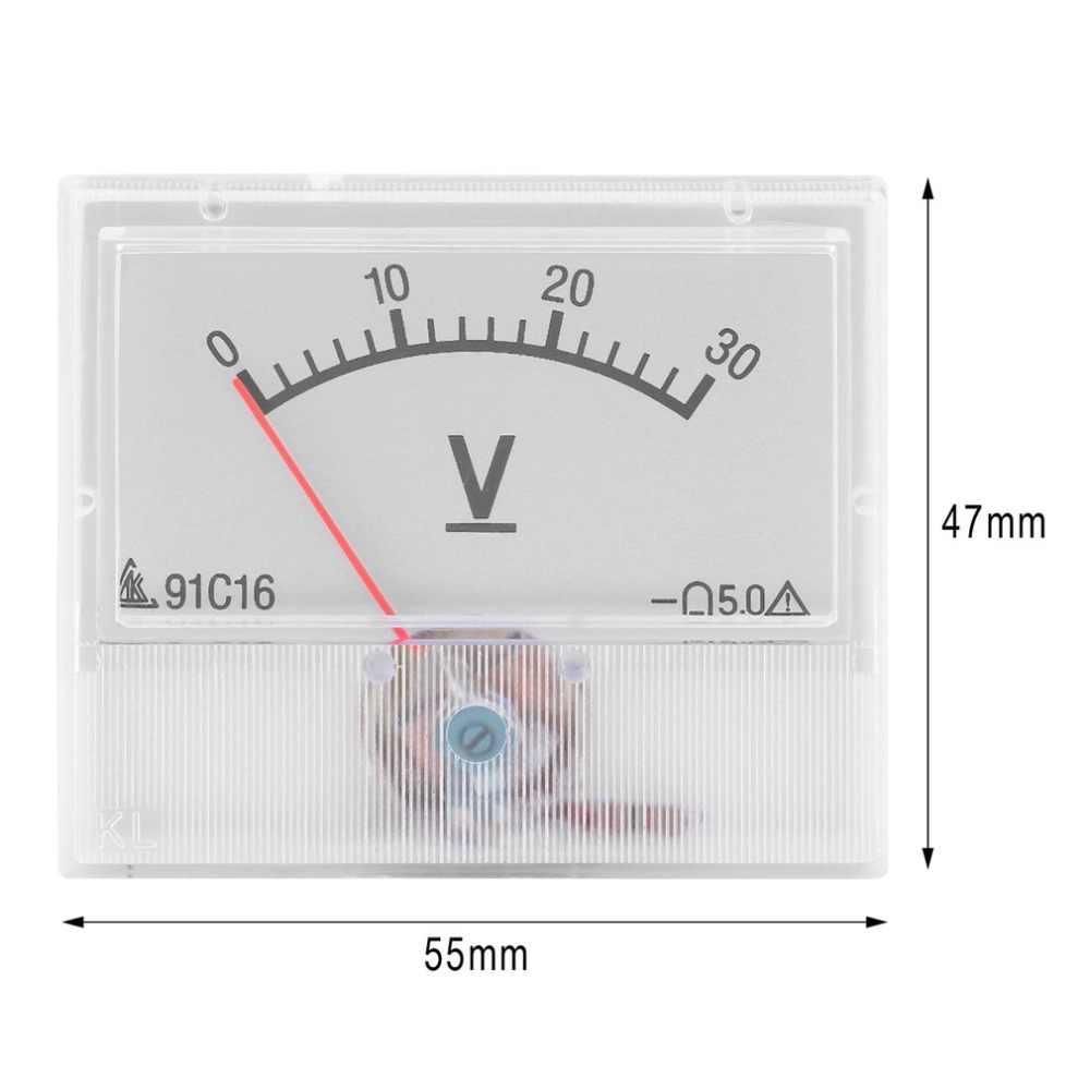 클래스 2.5 정확도 테스터 진단 도구와 전문 0-30 v dc 아날로그 볼트 전압 패널 미터 전압계 게이지