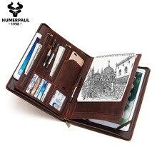 HUMERPAUL-Funda de cuero de vaca Retro hecha a mano para iPad Pro, 7,9