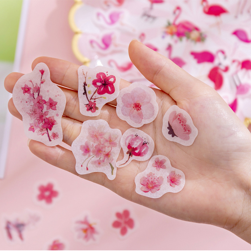 40pcs/pack Fashion Summer Flowers Paper Sticker Album Diy Diary Sticker Handbook Decoration Label Scrapbooking Sticker Label