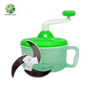 Duolvqi Portable Vegetables Chopper Stainless Steel Salad Cutter Bowl Chopper For Vegetable Fruit Slicer Kitchen Accessories