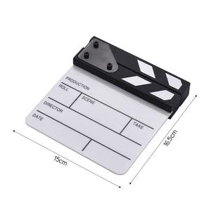 Image 5 - Compact Size Acrylic Clapboard TV Film Movie Director Cut Action Scene Clapper Board Slate