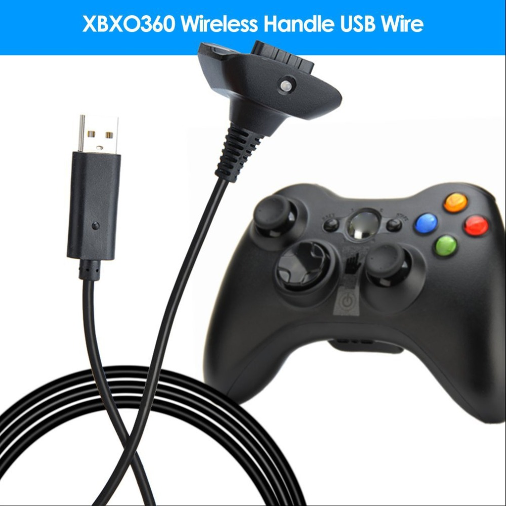 1.5m USB Charging Cable For Xbox 360 Wireless Game Controller Play Charging Charger Cable Cord High Quality Game Accessory 2019