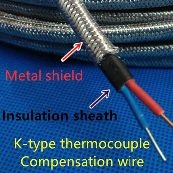 K-type thermocouple compensation wire / extension wire 2 * 1.5 square / KC compensation wire kcp outer shield фото