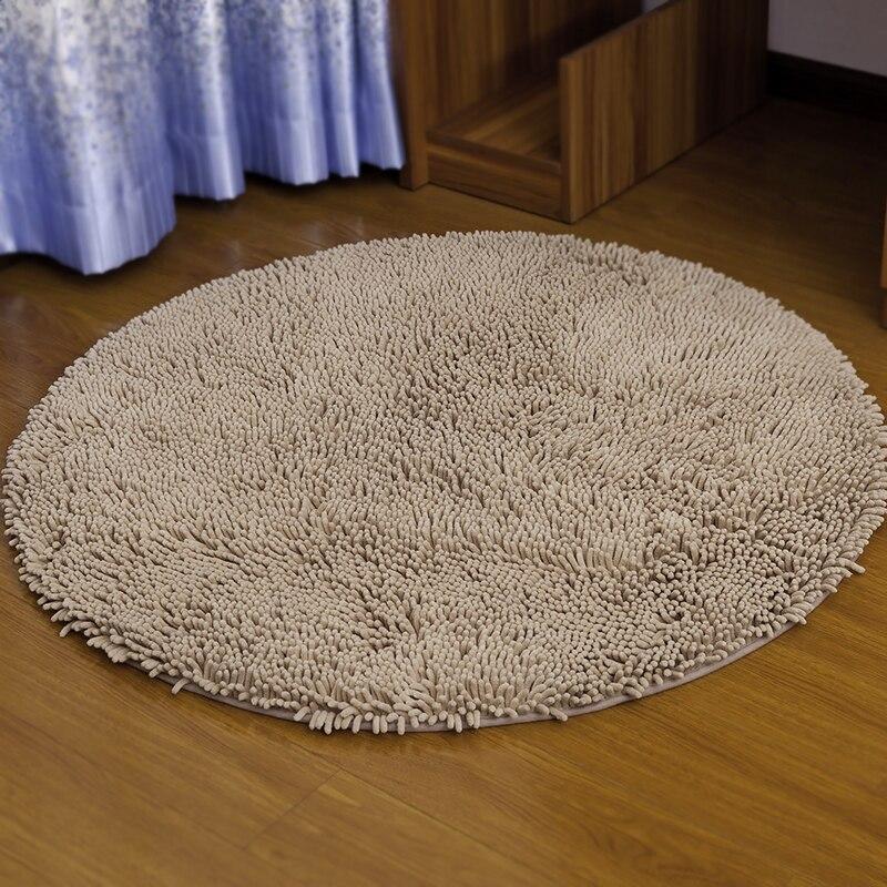 Tapis de chaise d'ordinateur tapis chambre maison chaise d'ordinateur tapis de chambre tapis rond lavable en Machine