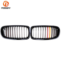 POSSBAY Gloss Black Red Yellow Sport Grills Front Bumper Center Grilles for BMW 3-Series F31 335i/335iX/340i Touring 2012-2017