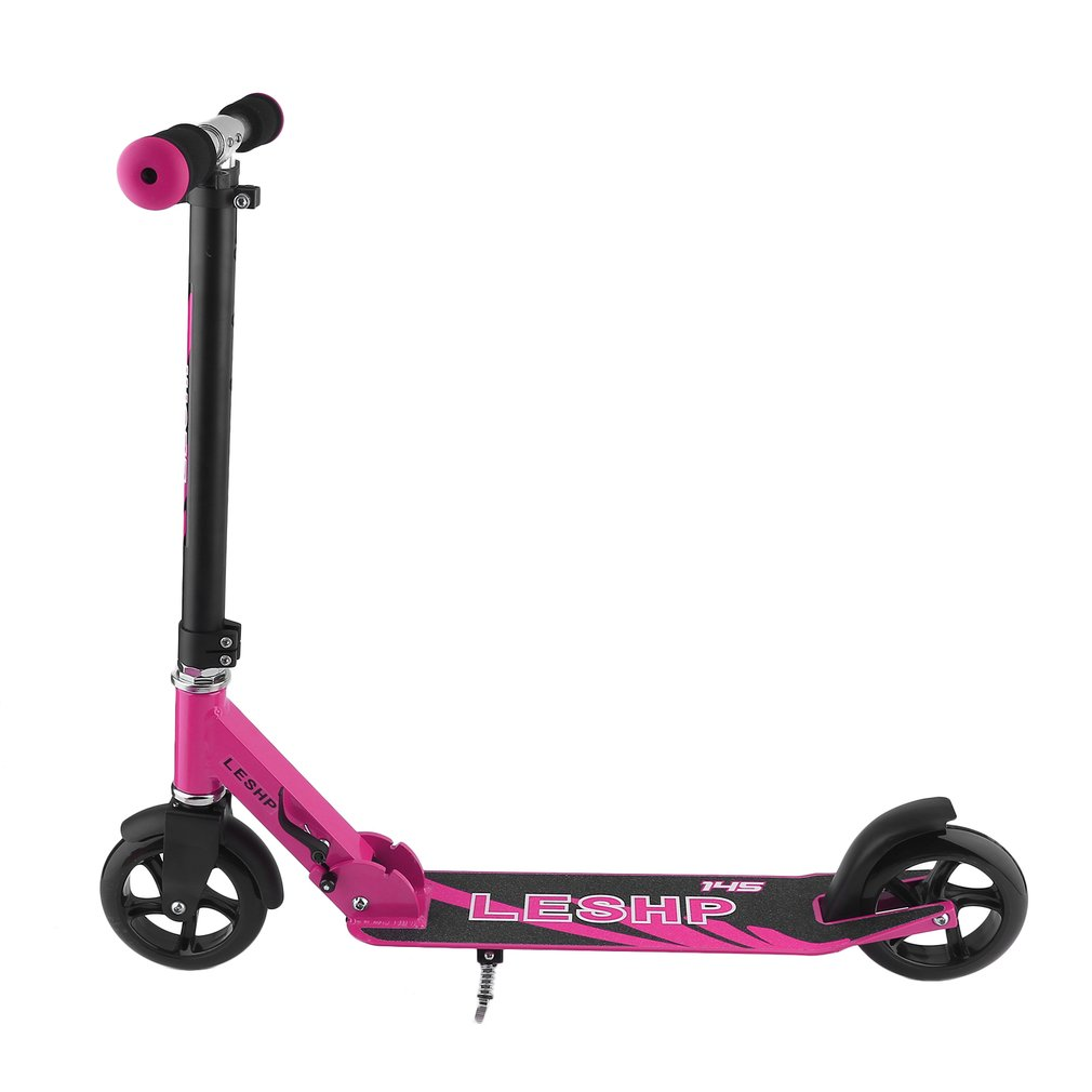 LESHP Two 145MM Wheel Height Adjustable Adult Kick Scooter Portable Quiet Urban Campus Transportation Smart Scooter