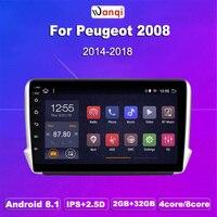32 2G RAM ROM G 10.1 polegada Android 8.1 Do GPS Do Carro Multimídia Para Peugeot 2008 208 série 2014- 2018 Jogador de Navegação