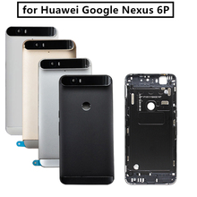 for Huawei Google Nexus 6P Battery Back Cover Rear Door Housing + Top Glass Camera Flash Lens Replacement Repair Parts