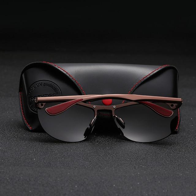 Gafas de sol de aluminio para hombre y mujer, lentes de sol polarizadas de metal de alta calidad para pescar y conducir 2
