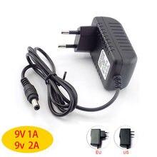 Adaptateur d'alimentation chargeur, 9V, 1a, 2a, 2a, 100 ma, 240x5.5mm, pour boîtier TV, routeur