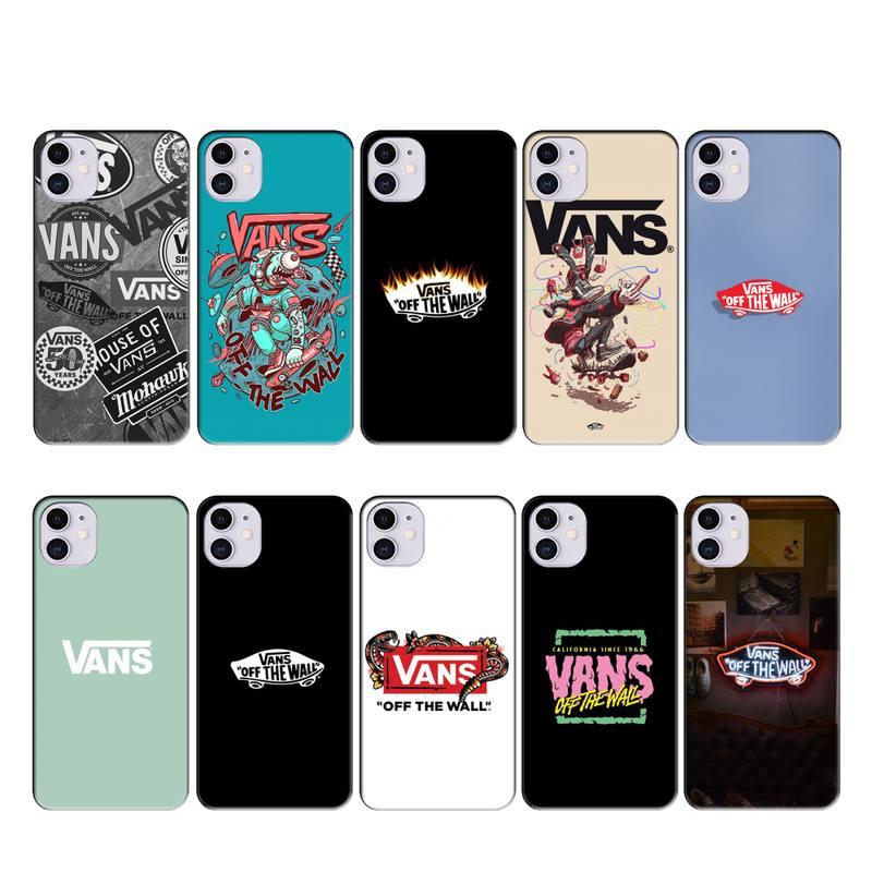 VANS case coque fundas for iphone 11 PRO MAX X XS XR 4S 5S 6S 7