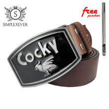 Fashion Western Mens Belt Buckles Cowboy Retro Style Cocky Buckle Solid with