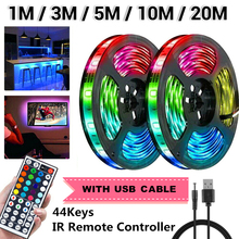 SMD 3528 DC12V RGB LED Strip Light 1M 3M 5M 10M 20M NO Water