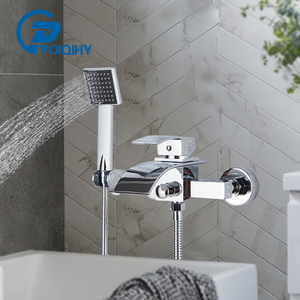 Chrome Bathtub Faucet Brass Wa