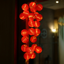 Latarka LED łańcuchy świetlne nowy rok dekoracyjne światła Outdoor Yard Festival światło opakowanie na baterie lampa ciepły biały na dekoracje ścienne do domu tanie tanio HOSPORT CN (pochodzenie) NONE Flanela Other LED Lantern String Lights Żarówki Brak 6-10m Czerwony 1-19 głowy