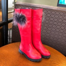 цена 2019 New Waterproof Shoes Winter High Tube Fashion Snowboots Girls Black Kids Leather Boots Child 3 4 5 6 7 8 9 10 11 12 Years онлайн в 2017 году