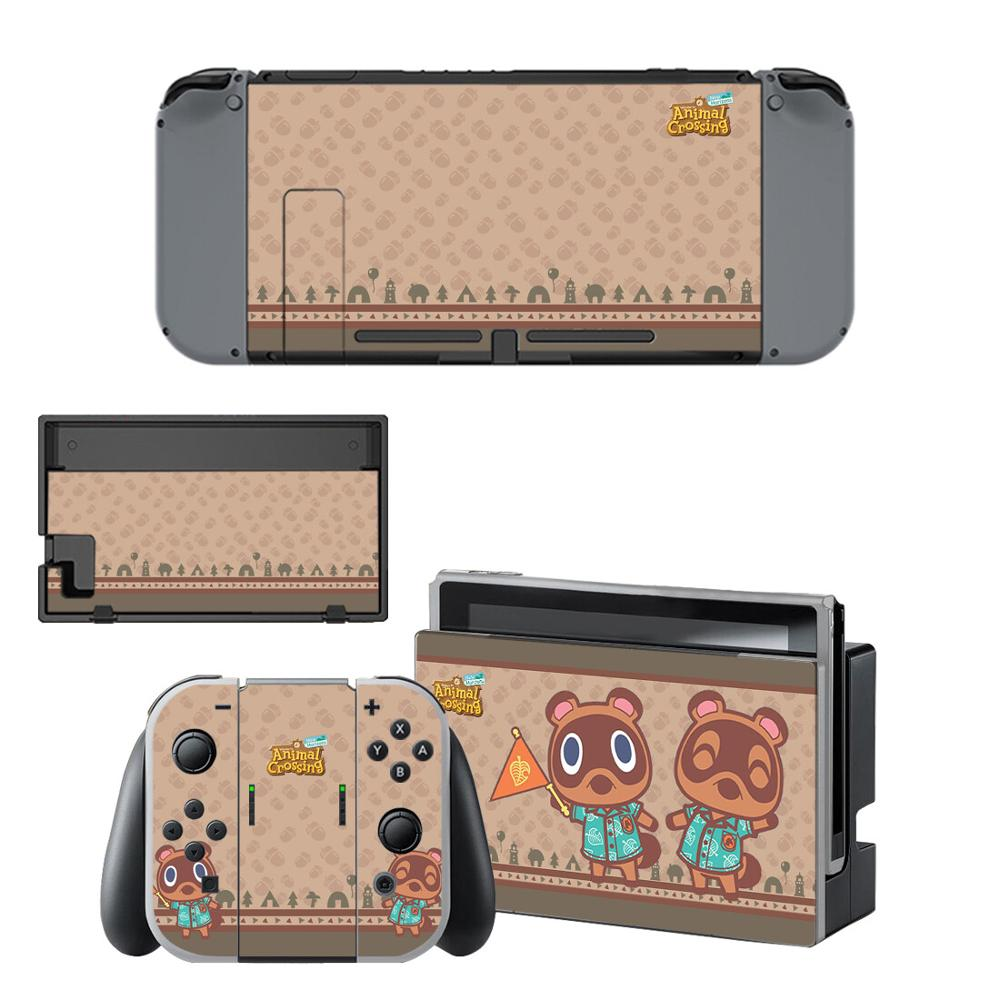 Vinyl Screen Skin Animal Crossing Protector Stickers For Nintendo Switch NS Console + Joy-con Controller + Stand Holder Skins