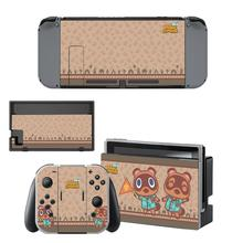 Vinyl Screen Skin Animal Crossing Protector Stickers for Nintendo Switch NS Console + Joy con Controller + Stand Holder Skins