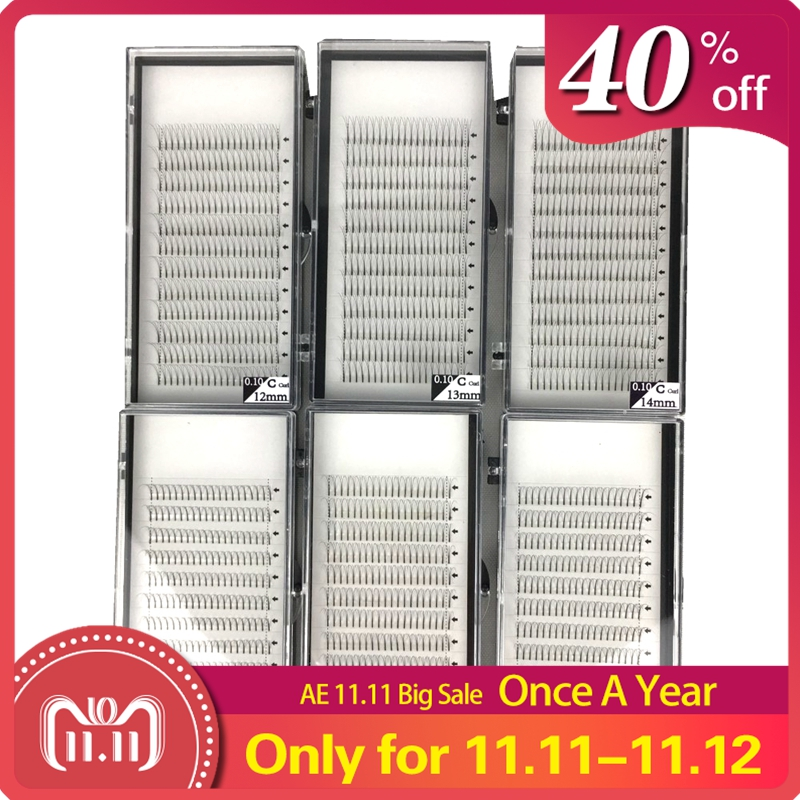 60 Trays/lot 3D 4D 5D Long Stem Premade Volume Fans Mink Volume Lash Extension for Professionals Pre Fanned Big Capacity 5 Dozen-in False Eyelashes from Beauty & Health