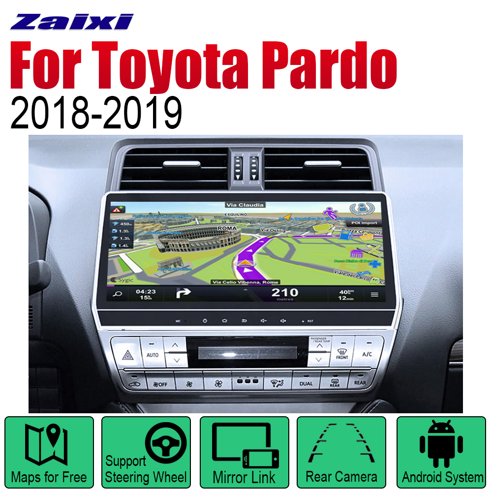 <font><b>Android</b></font> <font><b>Car</b></font> GPS Navi for Toyota Pardo LC950 Prado 950 2018~2019 player Navigation WiFi Bluetooth Mulitmedia system <font><b>audio</b></font> image