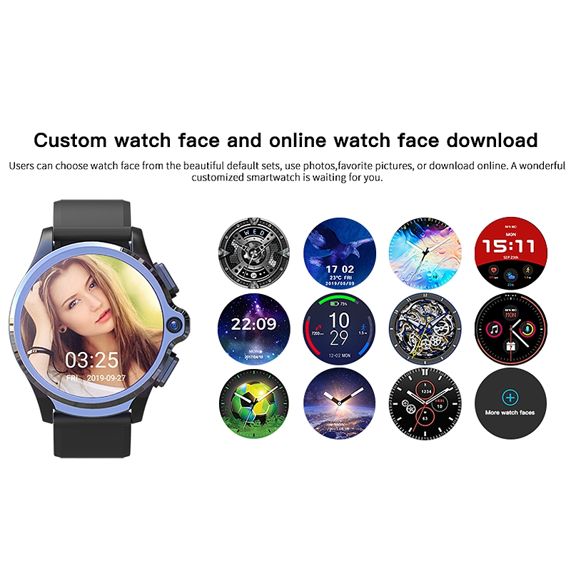 Kospet [Face Unlock]Dual Chip System 3G+32G 4G Smart Watch Phone Dual Cameras 1260MAh 1.6Inch Smart Watch Pakistan