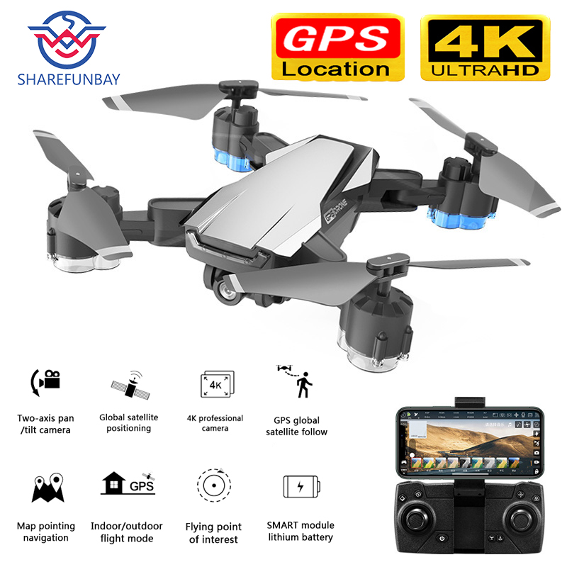 SHAREFUNBAY Drone GPS 5G WIFI And 4K HD Wide-angle Camera FPV Drone X Pro Quadcopter Keeps Up With My Drone With Camera