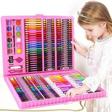 168PCS Kids Painting Drawing Art Set with Crayons Oil Pastels Watercolor Markers Colored Pencil Tools for Boys Girls Gift