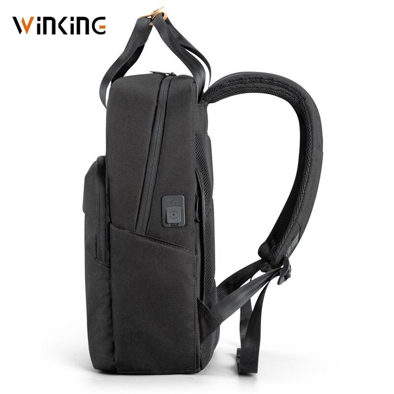 Kingsons homme sac à dos Fit 15 pouces ordinateur portable USB recharge multi-couche espace voyage homme sac Anti-voleur Mochila - 4
