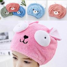 Детская быстросохнущая шапочка для волос, мягкая шапочка-полотенце для душа, аксессуары для ванной комнаты