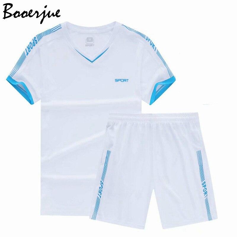 Summer Set Men Sportsuits Fitness Suits 2PC Top Short Set Mens Stand Collar Fashion 2 Pieces T-shirt Shorts Tracksuit Men 2020