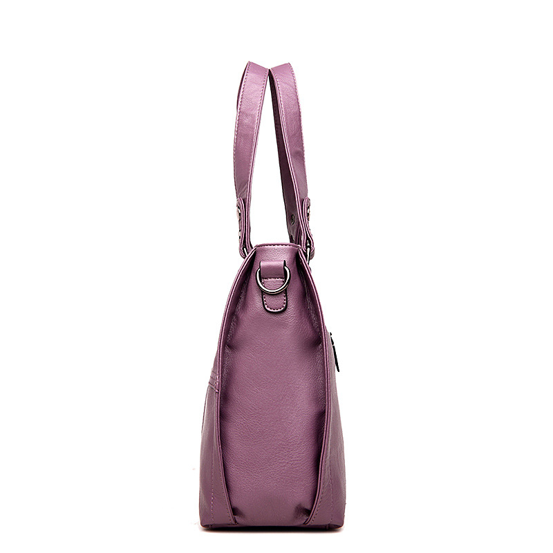 Image 5 - 2019 Luxury Brand Women Leather Handbag 100% Genuine Leather  Casual Tote Bags Female Big Shoulder Bags for WomenShoulder Bags   -