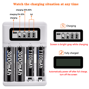 Image 3 - PALO USB แบตเตอรี่ Charger สำหรับ AA AAA 3A 1.2V Ni MH Ni Cd หน้าจอ LCD Smart Charger FAST CHARGING