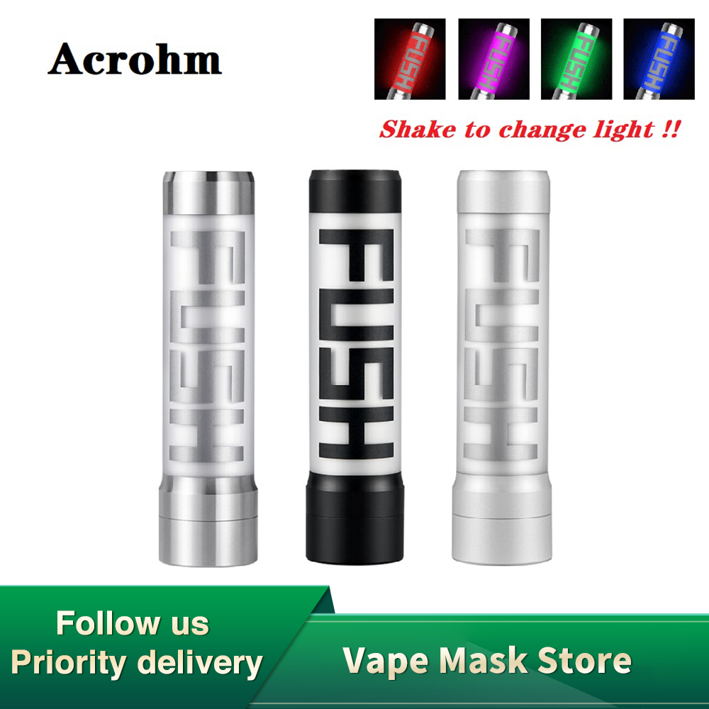 Pre-order Acrohm Fush 18650 Semi-Mech MOD With Breath Light  & 0.01s Firing Speed Electronic Cigarette Vape Mod Vs Vinci X Mod