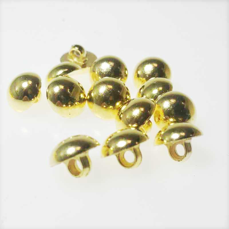 HL 50/100/300 pc 12 mm plaqué or bouton vêtements accessoires de couture bricolage artisanat décoration enfants boutons à la main pour